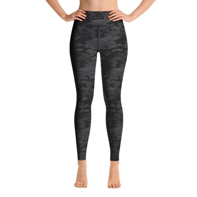 Bena & Eva Yoga Leggings - Black Camo