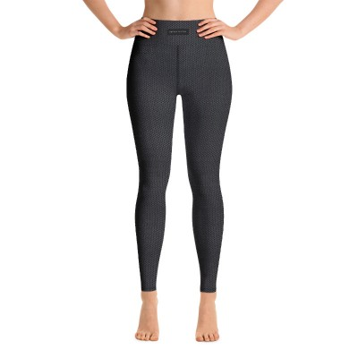 Bena & Eva Yoga Leggings - Black Hexagon