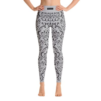 Bena & Eva Yoga Leggings - Pattern Light Gray