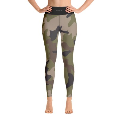 Bena & Eva Yoga Leggings - Green Camo