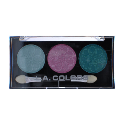 L.A. Colors Professional Series 3-Color Eyeshadow Palette Water Lily