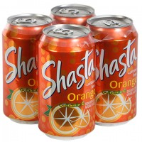 Shasta Orange Soda, 12-oz. Cans 4-ct. Pack
