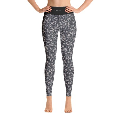 Bena & Eva Yoga Leggings - Green Camo Squares