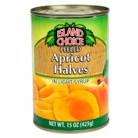 Island Choice Peeled Apricot Halves with Light Syrup, 15-oz. Can