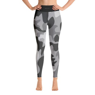 Bena & Eva Yoga Leggings - Gray Camo