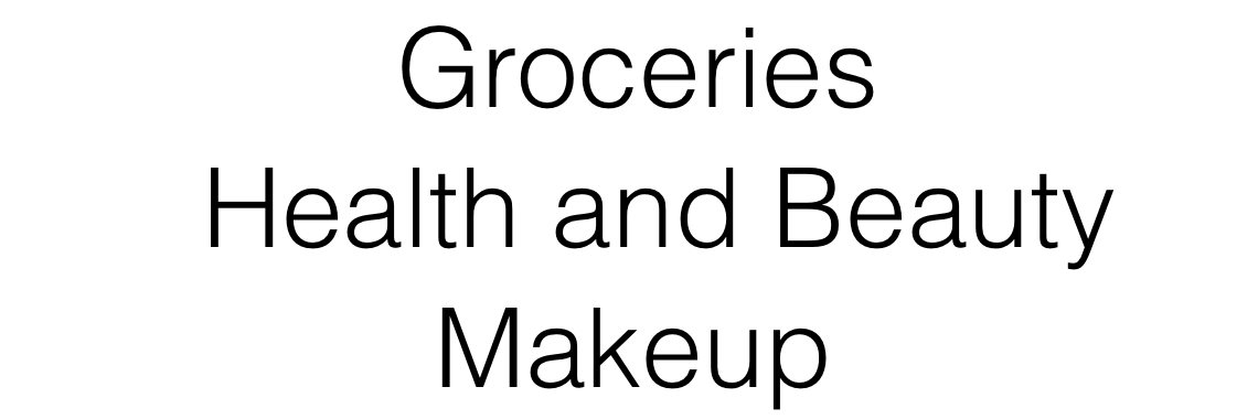 Groceries Health & Beauty MAkeup